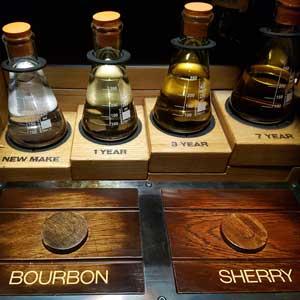 Reifegrade von Whisky