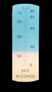 Refraktometer Skala bei 14%